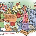 PM @NarendraModi's #Diwali gifts | #Cartoon by @ManojKureel For more cartoons visit : http://t.co/iPCPAu2kGQ http://t.co/FodiZoPsUb