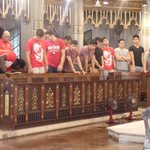The red lions now.in thanksgivng mass.... Thanking the.lord.for the victory... http://t.co/2DOa4eYpRD