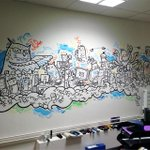 Heres another shot from last weeks office #mural at @SSiDSheffield #posca #doodling #illustration #Sheffield http://t.co/PUwOarpu60