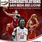 """""""@tobyssports: Its 5-peat for the San Beda Red Lions! #SBCDyna5tyContinued #5Peat #NCAAonTobys http://t.co/2KJfxesr6M"""" Congrats San Beda!"""