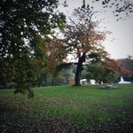 A gorgeous mild Autumnal day in Roundhay #Leeds as the parks given a gold award by Britain in Bloom. @lizgreenlive http://t.co/r0CRQuzTik