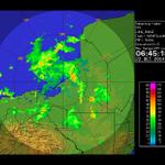 En la imagen de radar muestra zonas de tormentas en Campeche y Tabasco. http://t.co/76yfR95Ys2