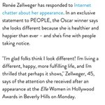 Renée Zellwegers response to the reaction to her face yesterday is so great. http://t.co/eI3T6A2027 http://t.co/sOPaCiFDG6