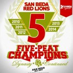 RT @sanbedasports: #SBCDyna5tyContinued San Beda sweeps Arellano for fifth straight title 89-70. #UIOGD http://t.co/wyYx8DvnDR http://t.co/3CkHUwwBWs