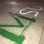 The block 'M' on Michigan's campus has been painted green. http://t.co/lGFvnXeVbv