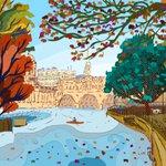 RT @Animated_Magic: #DailyDoodle no.35 Pulteney Weir Autumnal Sunday #Bath @BathChron @TheRealBathMag @BathLifeMag @InBath @TotalBath http://t.co/xs8jB2FW9O
