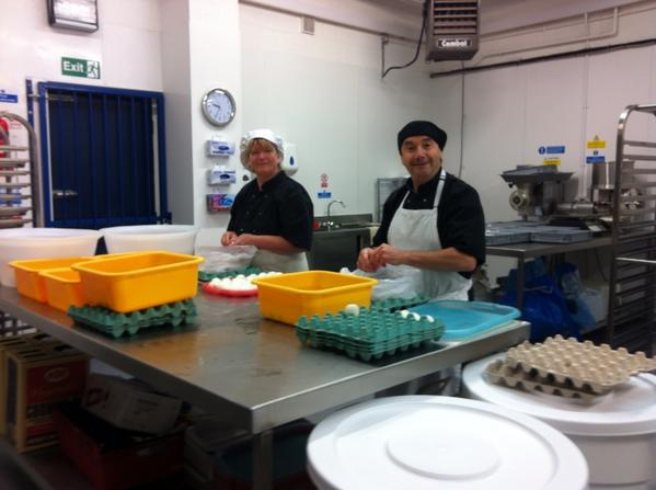 Happy Belly team hard at work in our new production kitchen #scotcheggs #arancini #sausages #yummy http://t.co/hTgkGLQzl6