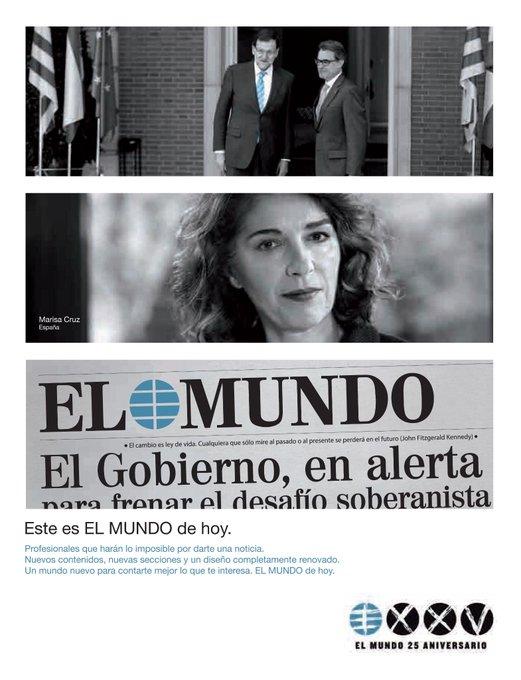 'EL MUNDO de hoy, un mundo nuevo para contar mejor lo que te interesa' #25ElMundo http://t.co/cVPdBuZB3C