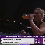 RT @TennisTV: 6-0, 6-2 over @serenawilliams? Ill drink to that, says @simona_halep! http://t.co/lK6Th2oR7J