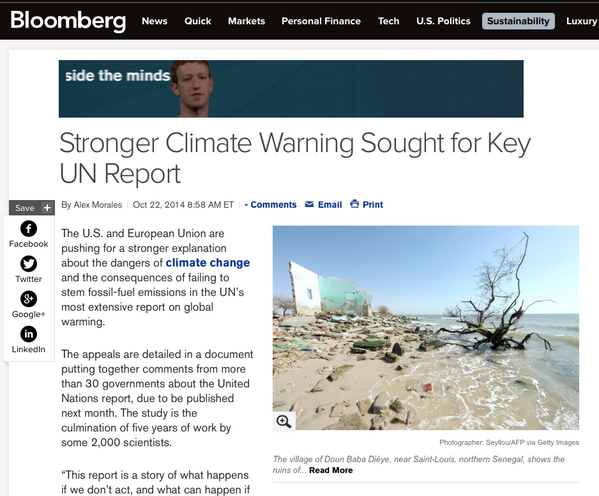 Obama admin & EU demand EVEN MORE HYSTERIA over warming in upcoming UN report – 'Stronger Climate Warning Sought for Key UN Report'