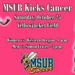 Join our MSUB Kicks Cancer event Saturday, Oct. 25 at 11:45 a.m. during our womens soccer game. http://t.co/V8B0fSWEPL