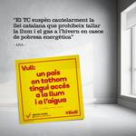 RT @Araeslhora: Vull un país on tothom tingui accés a la llum i a laigua #SíoSí. Ara és lhora, fem un país nou! #CatalansVote9N http://t.co/NXh65PfxWC