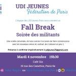 Laissons nos candidats au vestiaire et faisons tous connaissance lors de notre soirée pour tous les #UDIJeunes #Paris http://t.co/5hbUPJ49CE