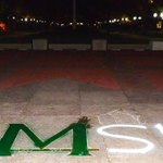 """""""@CollegeGameDay:Michigans block M painted Spartan green http://t.co/SpAkv1ChjK http://t.co/J6anMDEvfO"""" @varunytunes @kcoch14 @TheRygiel"""