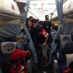 Just boarded! Cant wait!! 133 super excited kids on their way to @Disneyland @yycdingle @billiejokiss959 http://t.co/LiLpJ3hRnH