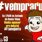 Hoje é o grande dia, vamos todos juntos vermelhar a Av. Antônio da Rocha Viana juntos @tiao_viana @MarcusAlexan13 http://t.co/BiFrpmaqk9