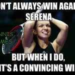 Simona Halep demolishes Serena Williams 6-0 6-2! Did you see that coming? #TennisMemes #WTAFinals http://t.co/sdBHrhMavB