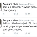 Jai Ho.:) @vineetkaul: Here is one more thing that makes @AnupamPkher just awesome!