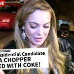 """RT @papelpop: TMZ fala sobre Lindsay Lohan escolher Aécio Neves: """"ele tem um helicóptero cheio de cocaína"""" http://t.co/hnVi1PqPri http://t.co/RdUZ9UVpzN"""