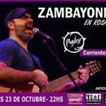 RT @prodsuburbanas: mañana! JUE 23 OCT @zambayonny en #Pugliese #Rosario | @HacemosAlgo @rosariorock @RosarioEspecta @Rockandata http://t.co/mQGieeyOaw