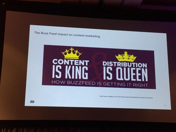 """""""Content is King. Distribution is queen... And the queen wears the pants"""" ~@jaymandel #digpharm http://t.co/p4ZNlYHg4z"""