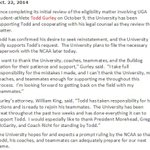 FINALLY!!! #UGA to apply for Todd Gurleys reinstatement TODAY. Read Gurleys full statement here. http://t.co/bIjF9eWScm