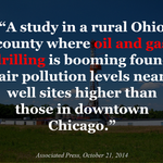 RT @FrackNo: .@AP: High pollution levels found near Ohio #natgas wells http://t.co/cYqtXnpzB3 #fracking @BarackObama @NYGovCuomo http://t.co/6653ahJmjT
