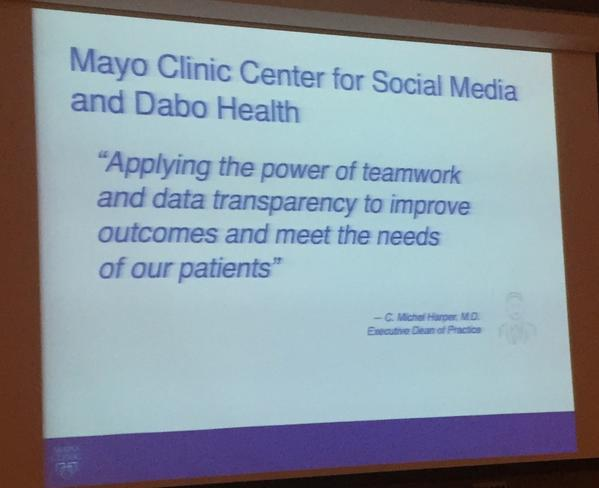 Shared visions: @MayoClinic @DaboHealth = powerful results. #mccsm #MayoRagan http://t.co/G9GAPZUxOq