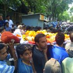 Body of #RameshJadhav being taken for funeral. Hope his death for fighting against evils doesnt go in water. #Martyr http://t.co/qsTEYPdboq