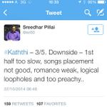 RT @SevanthiClub: Sevanthi exclusive rating 2.75/5 FLOP #Kaththi http://t.co/JTUbYx8j5m