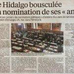 Avec #Hidalgo #Paris devient le pôle emploi du #PS Recasage dex-élus et de proches dans ladministration. http://t.co/keI8f2tsLT