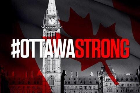 #OttawaStrong.  The True North strong and free. That's Canada. And that's what defines Canadians. http://t.co/p8SKVOZjfV