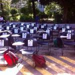 En la Facultad de Ciencias Políticas de la @UNAM_MX #Ayotzinapa #AccionGlobalAyotzinapa #EPNBringThemBack http://t.co/m8fgYzmtRk