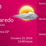 Buenas tardes, la temperatura en #NuevoLaredo #Tamaulipas #MEX es de 31°C. http://t.co/Z6mQG9zYTw