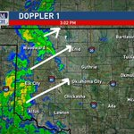 3pm-Rain mainly falling in far western Okla. Will move slowly east thru the afternoon and evening. #okwx http://t.co/6Q9QAgiSta