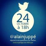 Rendez-vous vendredi 24 octobre à 18h, je répondrai à vos questions sur #QRJuppé http://t.co/tJPyzmFOEa @twitter http://t.co/5mFvFnJ0x5