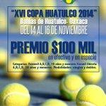 La Asociacion de Tenistas invita a XVI Copa Huatulco 2014, del 14 al 16 de noviembre, #Huatulco, #Oaxaca. @GobOax http://t.co/nu890QfJgU