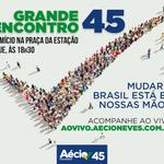RT @Rede45: Hoje tem @AecioNeves em na Praça da Estação, em Belo Horizonte. Assista ao vivo em http://t.co/eUk49EZ2zL #MudaBrasil http://t.co/C0C1KUycnd
