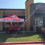 Were open for business at @Raising_Canes 3890 Preston Rd in Frisco! First 50 people to the tent get a FREE BOX COMBO! http://t.co/J2mQmG7FuH