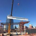 Topping off ceremony for future West River Front Park and Amphitheater today in downtown Nashville. @tennessean http://t.co/kCVdgc399Z