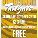RT @GOBCC: Homecoming Tailgate on Saturday, October 25th from 12-3pm. Free food (while it last), music, & fun! http://t.co/oKYI8qpczk