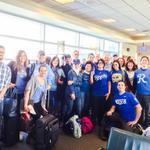 Very cool! RT @JenPumpItUp: Chicago Midway Southwest Gate B3 stands behind our KC @Royals! #TakeTheCrown #WorldSeries http://t.co/x2RJHbgI1s