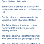 RT @1310NewsDay: #UPDATE #Ottawa #Canada Short Statement from Prime Minister Stephen Harper Will address nation this afternoon http://t.co/c11sDHjkrB