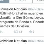 Ya se manifestó @CiroGomezL? Univisión mató a Ciro Gómez Leyva, lo confunden con Aldo Sarabia http://t.co/lGP7yaej5a http://t.co/laTXNpuFAu