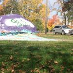 RT @nickbaumgardner: Michigan students now protecting the diag. But heres the rock on South U. Painted green http://t.co/COf8V1zscf