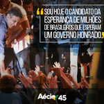 Vá em frente, Aécio, falta pouco para a mudança! Os brasileiros estão contigo! #MudaBrasil #45AecioConfirma http://t.co/CxYMbJX2YT