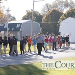 Bunger students evacuate the school and head to Prince of Peace Church, after a fire http://t.co/399zzA2Dlb