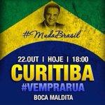 Vem pra rua! Todos na Boca Maldita em Curitiba. Todos com @AecioNeves #vemprarua #45AecioConfirma #AecioPeloBR45IL http://t.co/nLDzGk3kq3