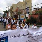 #Oaxaca Marcha de alumnos de Medicina en apoyo de Ayotzinapa http://t.co/Sr6a8VPBzl