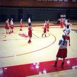 .@MaristAthletics womens basketball team practicing on media day at McCann Arena. @@MAACSports http://t.co/6N2FsHRwB5